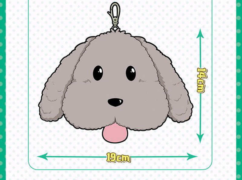 Cute Yuri on ice Victor Puppy Poodle Dog Plush Toy Makkachin Pet Dog Paper Box Keychain Pendant Cosplay Decoration Toy Kids Gift (3)