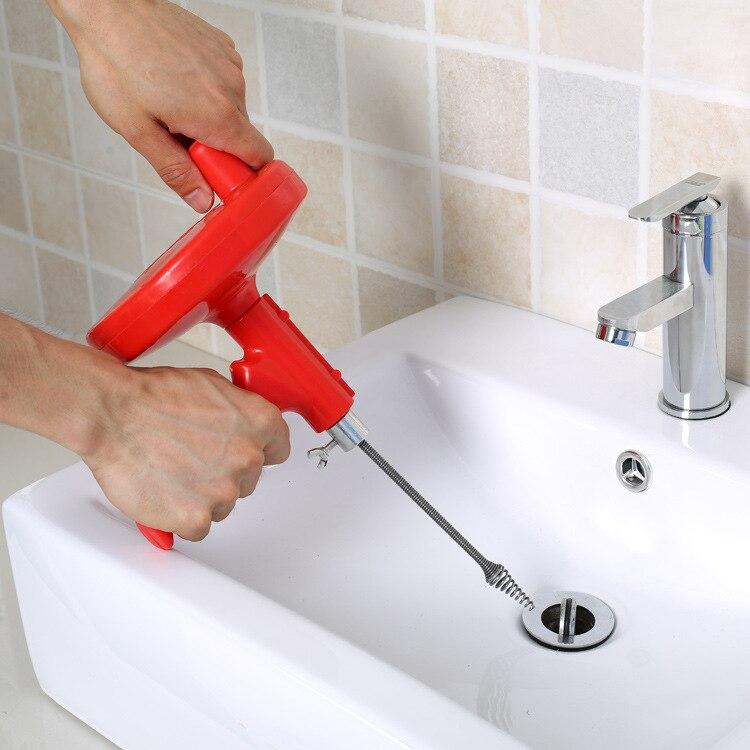 1 PC 5 M cuisine égout toilettes blocage d'outils à main tuyau drague 5 mètres Drains Drague Tuyaux D'égout Évier De Nettoyage Sabots JH 0761