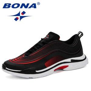 Мужские кроссовки BONA, легкие дышащие кроссовки для повседневной носки, 2019