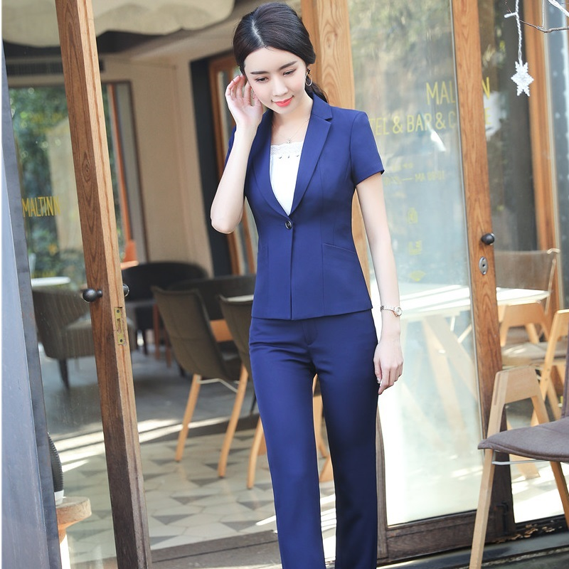 Formal Women Business Suits With Jackets Coat And Pants For Ladies Office Professional Work Wear Female Pantsuits Trousers Set