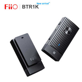 FIIO BTR1K Wireless Bluetooth 5.0 Portable Headphone Amplifier Noise-Cancelling USB DAC Audio Receiver with MIC support NFC - DISCOUNT ITEM  5% OFF All Category