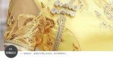 modern qipao long Vietnam style lace Ao dai women dress