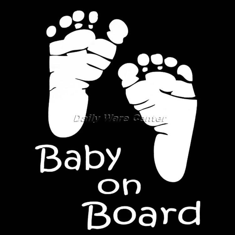 Baby On Board Voiture Mise en Garde Sécurité Ventouse Autocollant Imperméable