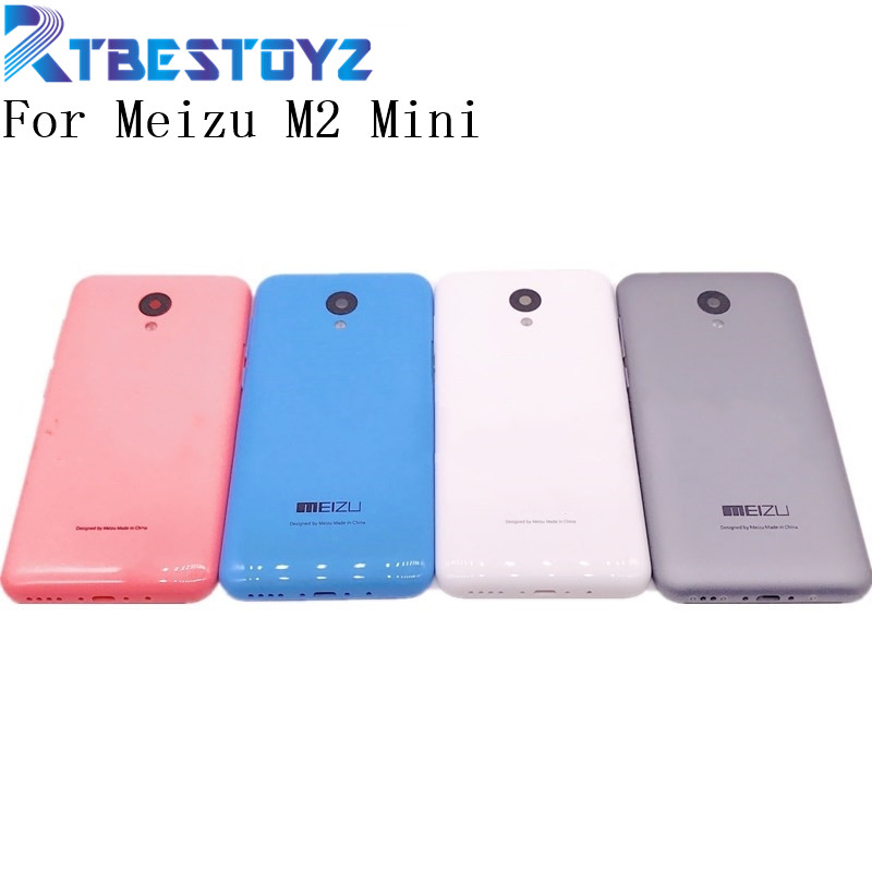 RTBESTOYZ New Battery Back Cover For MEIZU M2 Mini Housing Case With Camera Lens + Power Volume Buttons