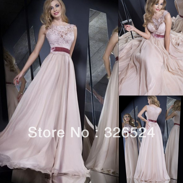 Aliexpress Buy New Arrivals Prom Dresses 2014 Scoop Neck Lace