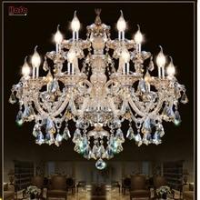 Candelabro de cristal moderno para sala de estar, lustres de cristal, decoración Tiffany, colgantes y candelabros, iluminación para el hogar, lámpara de interior