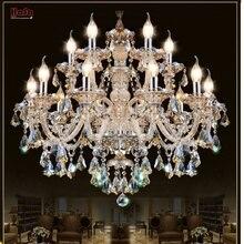 Lampadario di Cristallo moderno Salotto Camera lustri de cristal Decorazione Tiffany Pendenti con gemme e perle e Lampadari di Casa Lampada di Illuminazione Interna