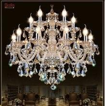 Lustre de cristal moderno, sala de estar, lustre de cristal, decoração, pingentes tiffany, iluminação doméstica, lâmpada para área interna