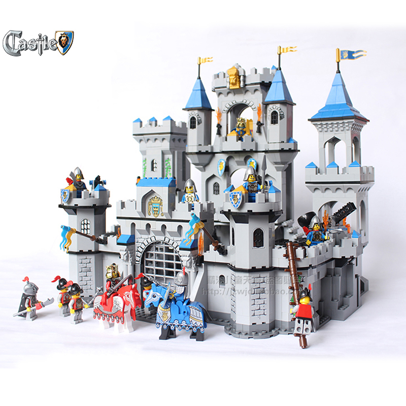 Enlighten Model building kits compatible with lego city KNIGHTS Castle 930 3D blocks Educational toys hobbies for children enlighten 2314 war of glory castle knights shop model building block 368pcs educational toys for children compatible legoe