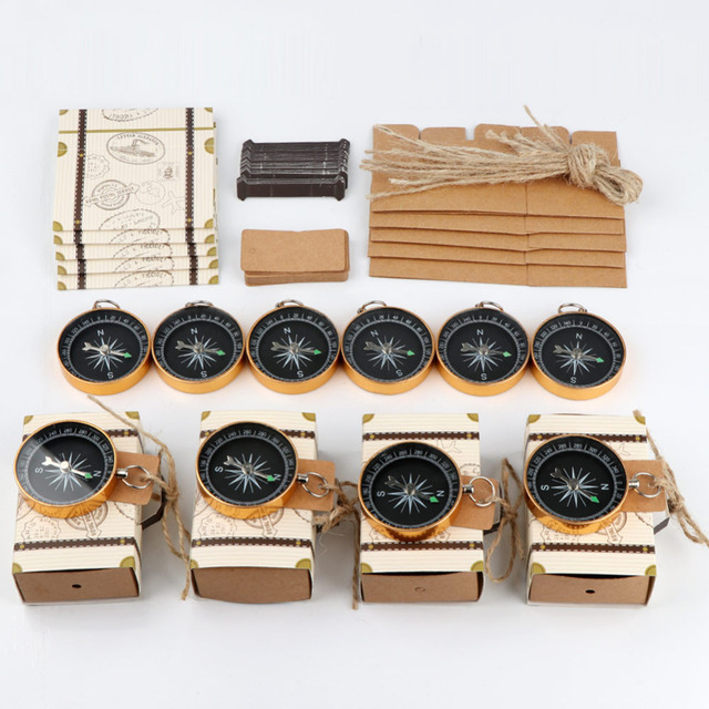 50 PCS Candy Gift Box Compass With Tag Wedding Souvenirs Wedding Favors cb5feb1b7314637725a2e7: Beige