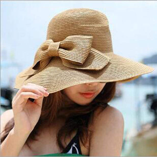 Online Shop SUOGRY Summer hats for women straw hat beach hats for women sun  hats wide brim floppy  1de7a249a90