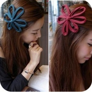Exquisite Hair Accessory - Big Flower Hair Bands Hair Accessory Buckle Female