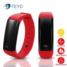 Teyo Новый Smart Браслет Bluetooth монитор сердечного ритма крови Давление монитор cardiaco Водонепроницаемый Smart запястье для iOS и Android