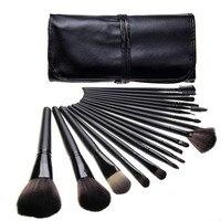 Professional 15pcs 18pcs Makeup Brushes Set Cosmetic Foundation Eyeshadow Blush Kits Leather Bag Maquiagem