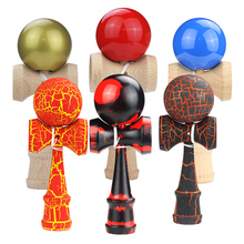 Kids Kendama Wooden Toy Kendama Stress Ball Bamboo Wooden Toys Arly Education Toys For Baby Children Gifts schylling blow toys hobbies outdoor fun sports toy ball foam floating ball game children wooden education kids baby gift