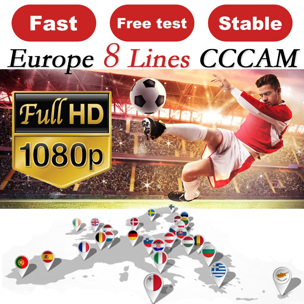 CCCAM ESPA A Cline For 1 Year Europe 8 Clines Oscam Stable Cccam Server HD Ccam Spain Portugal Germany Poland Receptor Satellite
