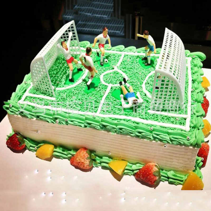Excellent Creative Diy Gifts Football Sport Scene Cake Decorations Ornaments Personalised Birthday Cards Sponlily Jamesorg