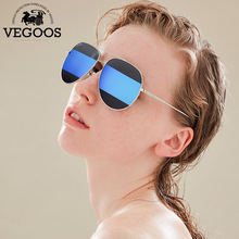 VEGOOS Aviator Polarized novel Sunglasses Unisex Stitching Lenses Original Brand Vintage Unisex Sun Glasses Metal Frame #3147