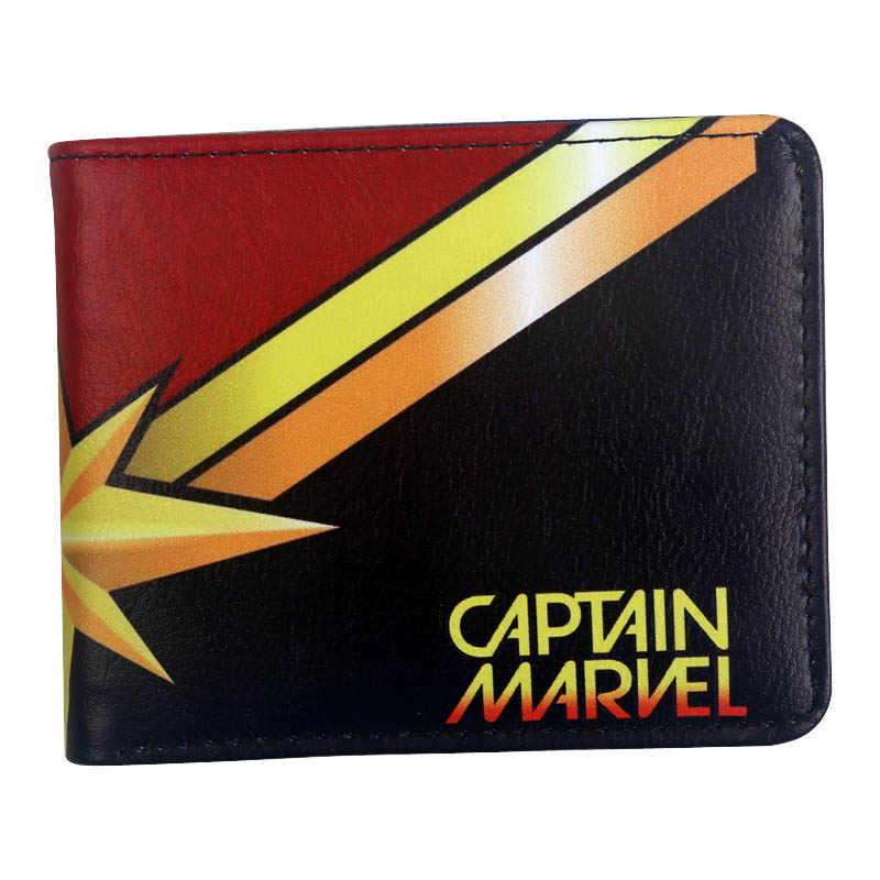 Comic Captain Marvel wallet women purse with card holder Zipper coin pocket Credit card slot