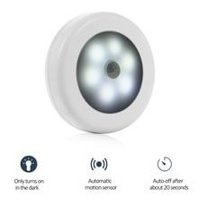 AKDSteel infrarouge PIR capteur de mouvement 6 Led veilleuse sans fil détecteur de lumière applique murale lumière Auto On/Off placard alimentation batterie