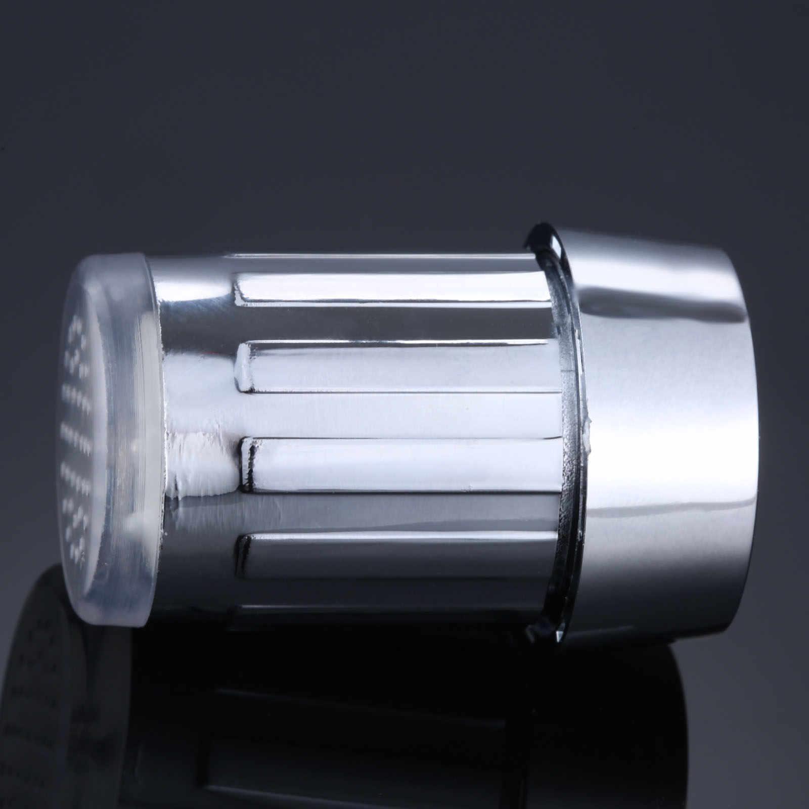 LED 水蛇口ストリームライトキッチンバスルームシャワータップ蛇口ノズルヘッド温度センサーブルーライト蛇口
