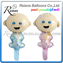 Birthday Party Decorations Kids Foil Balloon Baby Boy Girl Air Balloon Infant Birth Day Decor,41cm Large Size, Pink or Blue(China)