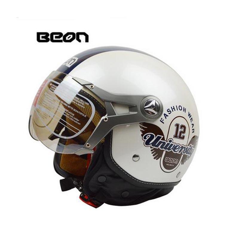 Prix pour 2017 beon cru moto casque capacete motos moto casque approuvé dot d'été demi casques casco moto