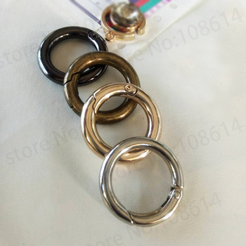 DIY spring ring for leather bag accessories fashion garment craf handbag accessory gold silver gunblack bronze image