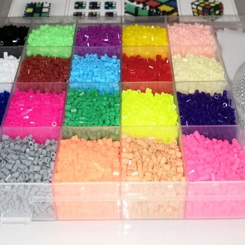 11000pcs Perler Beads 2.6mm Set Refill Hama Beads 2.6mm Supplement Set DIY Mini Hama Iroing 3D Puzzles Handmade Craft Toy(China)