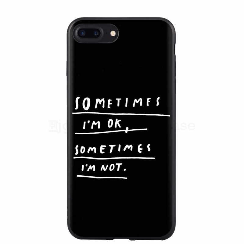 สำหรับ iPhone 8 8 Plus X 7 7 Plus Soft TPU กรณีสาวสติกเกอร์ Memes Cool Quote ตลกคำสำหรับ iPhone XS Max X XR