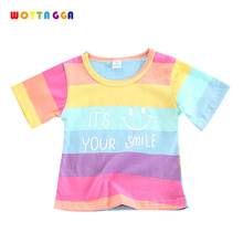 WOTTAGGA 2019 Summer Boys Shirts Cotton Children T-shirts Colored Tops for Short Sleeve Kids Blouse Toddler Tees Baby Cloth