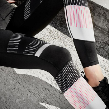 High Waist Leggings Sexy Leggins Sport Women Fitness Sport Legging Quick-drying Leggins Mesh Pattern Print Leggings Gym Leggins 1