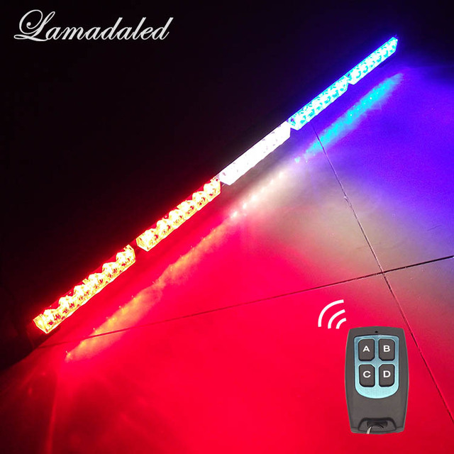 80cm wireless control led strobe light bar 30inch police car warning lights beacon 30'' emergency flash lamp with remote