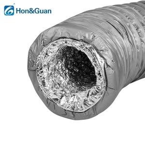 Image 2 - Hon ve Guan 4 ~ 8 kanal susturucu düşük gürültü esnek havalandırma hortumu yalıtımlı alüminyum hava boru kanalı için klima 1.2m