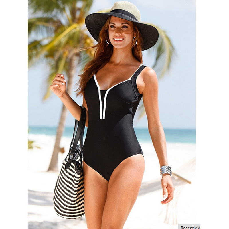 2017 New Halter One Piece Swimsuit Women Plus Size Swimwear Retro Vintage Bathing Suits Beachwear Female Swim Wear Monokini XXL 2017 new one piece swimsuit women vintage bathing suits halter top plus size swimwear sexy monokini summer beach wear swimming