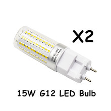 15W G12 120pcs super bright 2835 SMD LED Bulb AC85 265V 150W