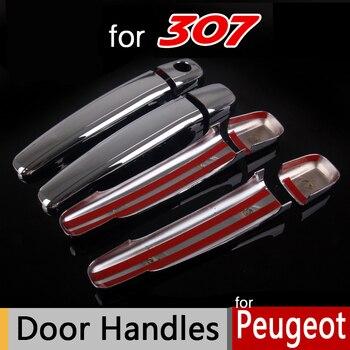 Para Peugeot 307 307sw 307cc Accesorios cromo Chapado de cromo Manijas cubierta exterior decoración car-styling