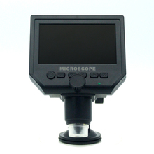 Portable LCD Digital 600X Magnification Microscope with 4.3 Inch HD OLED Display Li-Battery Built-in and Multi-Language Support