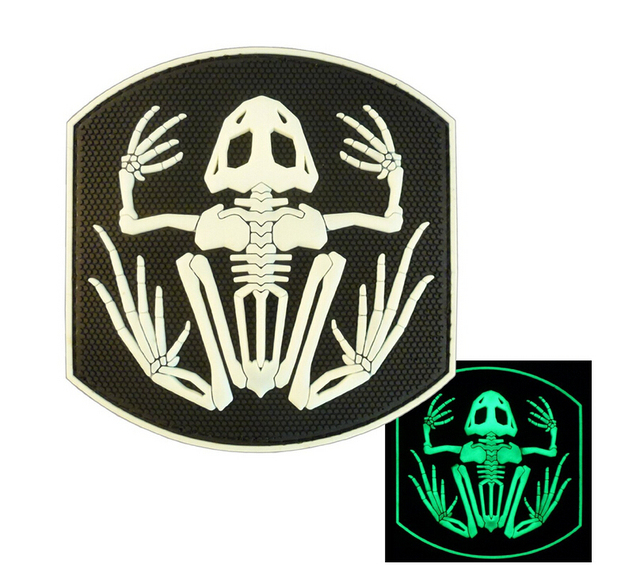 US Navy Seals Bone Frog Skeleton Skull DEVGRU Frogman Morale PVC 3D Patch  Morale Badge Patch For Caps or Clothing Adhesive Badge 4b5eb939090