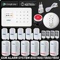 Ruso, Kerui inalámbrica GSM sistema de alarma de seguridad, ISO, Android APP Seguridad sistema de alarma inalámbrico de Detector de humo