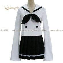 Kisstyle moda lucky star akira kogami verano chica cos ropa cosplay traje de uniforme, modificado para requisitos particulares aceptado