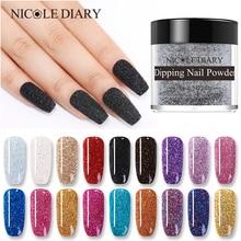 NICOLE DIARY polvo para uñas, sistema de inmersión de 10g, seco Natural, colorido, para uñas brillantes, diseño artístico con purpurina