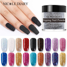 NICOLE DIARY poudre à ongles trempage, 10g, système, coloré, scintillant, pour Nail Art, effet naturel, sec, pailleté