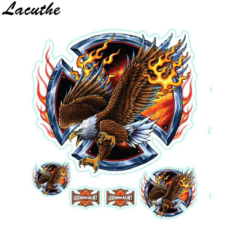 Wolf Head Decals Skull Head Fire Flame Funny Self-adhesive Sticker For Motorcycle Car Door Stickers Truck Helmet Decor Motorbike Accessories Decals & Stickers