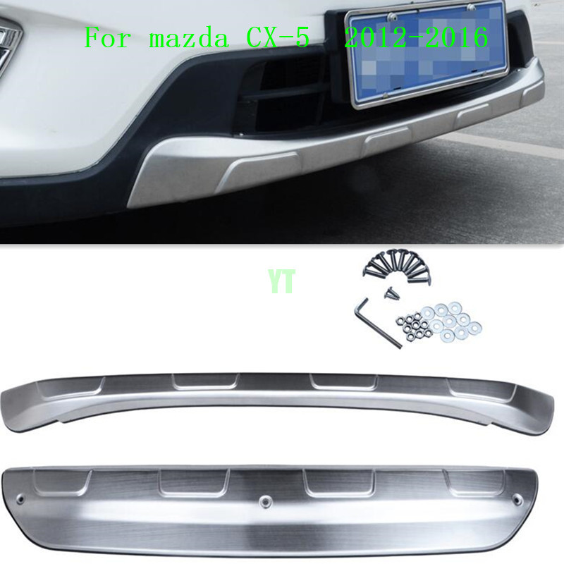 Auto front and rear skid plate skid bar for MAZDA cx-5 cx 5 2012-2015 2016 stainless steel, 2pcs/lot, auto accessories