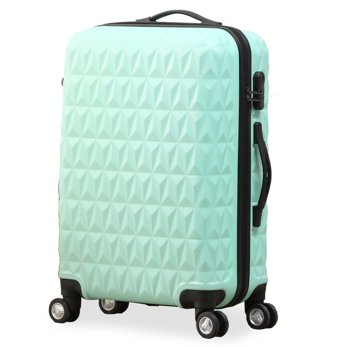 Women Diamond Cut ABS Spinner Suitcase Men 28 Inch Big Travel Luggage Hardside Rolling Trunk High Quality Competitive Price