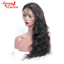 180% Density Full Lace Human Hair Wigs For Black Women Brazilian Body Wave Brazilian Virgin Hair Wig With Baby Hair Sunny Queen