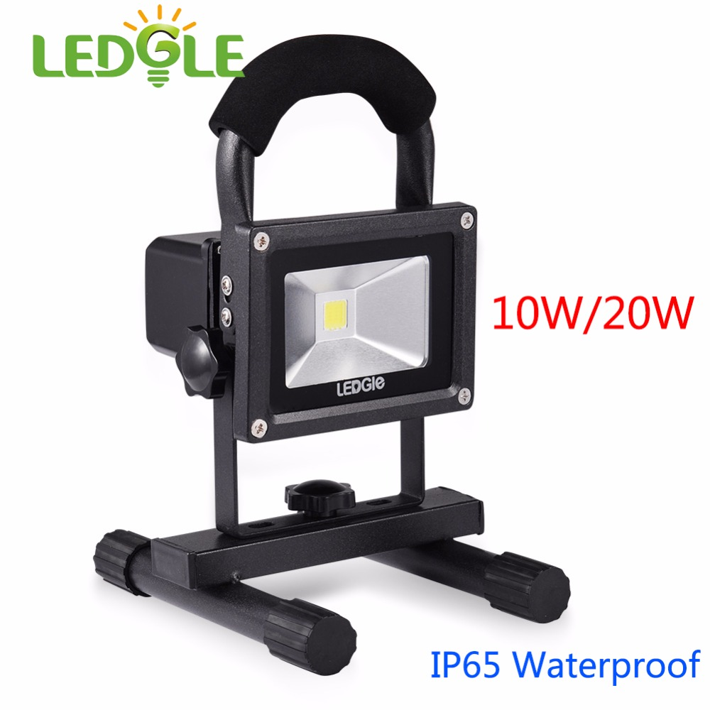 LED Floodlight 50W Portable Rechargeable Thin Cordless Daylight Color Waterproof Outdoor Laterne Camping-Lampen & -Laternen