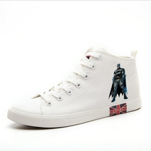 The Dark Knight Batman Printing Cool Cartoon High Heel Canvas Uppers Sneakers College Personalise Fashion Casual shoes