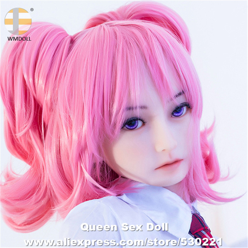 Top Quality WMDOLL Heads For Silicone Sex Dolls Realistic Adult Real Doll Head Oral Sexy Products wmdoll top quality silicone sex doll head for real human dolls real doll adult oral sex toy for men
